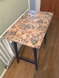 Upcycled Decoupage Small Table