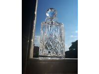 Square Cut Glass Crystal Decanter