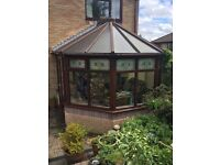 Brown uPVC Conservatory with Blinds