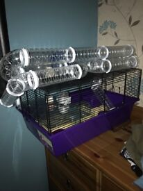 Hamster cage and tunnels