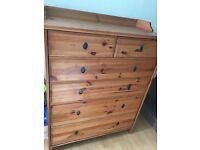 Ikea pine leksvik drawers