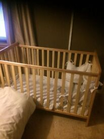 Cot and mattress from birth+