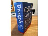 Large hardback Collins French Dictionary