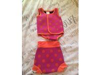 NEW Baby girl swim suit & Full pack swim nappies