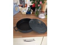 Grey Cast Iron casserole Dish excellent condition
