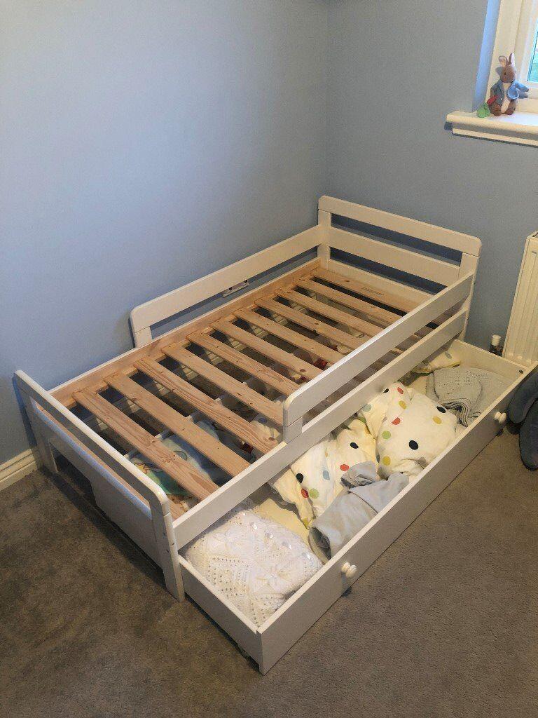 Argos White Home Ellis Toddler Bed With Storage In