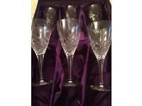 EDINBURGH CRYSTAL WINE GOBLETS