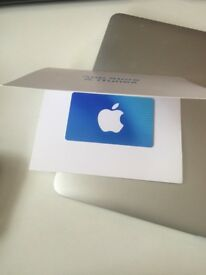 itunes gift card,face value£100, selling for £80