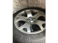 4 x BMW alloys and Tyres for sale