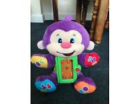 Fisher price laugh and learn purple monkey