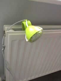 Spotlight attachable lamp in lime green