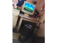 Dell desktop PC and flat-screen monitor
