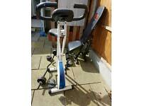 ez curl bar incline bench and Davina cycle