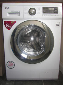 LG washing machine - 8kg 1400 Spin - F1496TDA - Class A+++ White