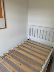 Single bed with bed underneath