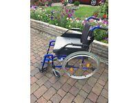 lightweight full size folding wheel chair