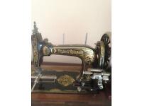 Antique hand sewing machine Frister & Rossman