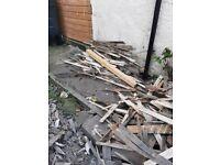 Large quantity of kindling wood
