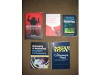 5 Personal Development Books In Various Settings; £2.00 EACH