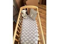 Wooden John Lewis Crib
