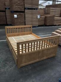 Brand New, 4ft6 Double Pine Bed Frame with 6 Drawers