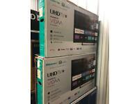 "43"" hisens brand new in box smart 4k with warranty"