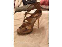Jimmy Choo Sandals in gold brand new genuine