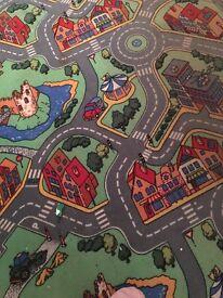 Childs bedroom carpet roadway design 425x4 meters