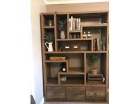 Next Bronx wooden bookcase