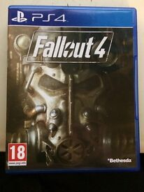 Sony PS4 Games - Fallout 4 . Almost Brand New, Only used twice.