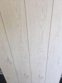 Polar white laminate flooring brand new