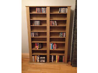 Oak effect bookshelf