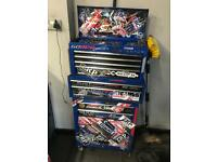 Tool box with tools including snap on tools mechanic