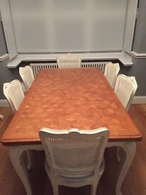 French Dinning Table and 6 chairs