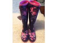 Joules wellies size 5. Brand new with tags, original box