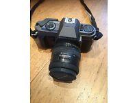 PENTAX P30T 35MM FILM CAMERA, 2 LENSES, 12 FLASH, CARRY CASE.