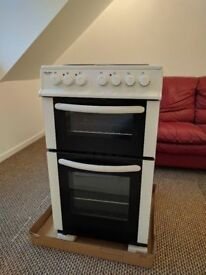 **BUSH**ELECTRIC COOKER**50CM WIDE**DOUBLE OVEN**VERY GOOD CONDITION**COLLECTION\DELIVERY**NO OFFERS