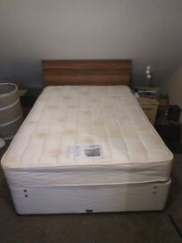 Double Bed , head-board and mattress - Very good condition - Collection only