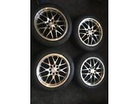 4x 16 inch alloy wheels with 4 new rovelo tyres