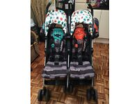 Cosatto Twin/ Double pushchair - Cuddle monster design