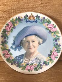 Queen Mother 100th Birthday Commemorative Plate