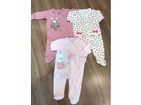 Beautiful Girls Sleepsuits from Next 3-6 Months