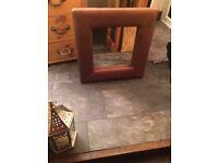 Indigo Leather Mirror Designer