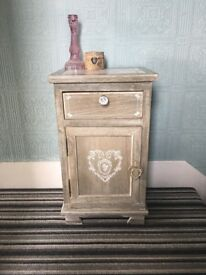 Beautiful upcycled bedside cabinet