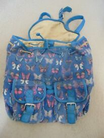 ANNA SMITH BUTTERFLY DESIGN RUCKSACK BAG PLUS ONE FOR FREE!
