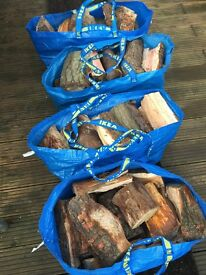 Logs for Sale Chopped Seasoned Mixed Logs & Kindling 1 X Ikea Bag Wickham PO17
