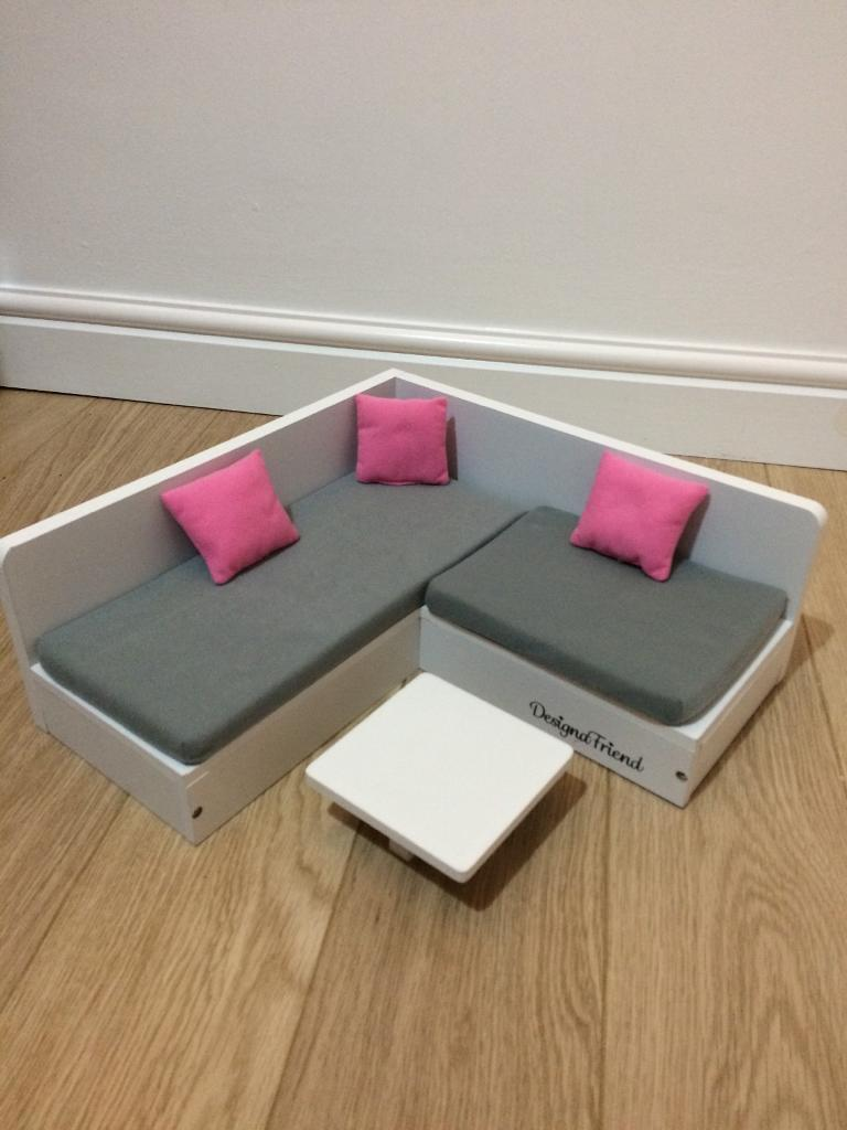 Chad Valley Designafriend Wooden Sofa Couch And Coffee Table Great Condition In Bearsden