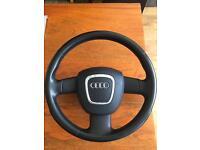 Audi A4 3 spoke steering wheel