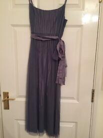 grey monsoon dress and shawl - UK 10