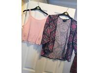 Summer vest top / kimono size 12